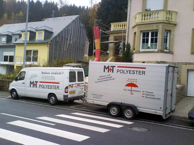 Firmenwagen von M+T+Polyester